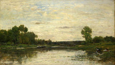 Painting - View On The Oise by Charles-Francois Daubigny