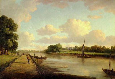 View On The River Thames At Richmond View On The River Art Print