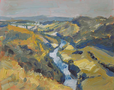 River Painting - View On The River Wye From Symonds Rock by Nop Briex