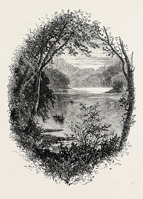 View On The Schuylkill, Us, Usa Art Print by English School