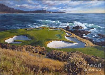 7th Hole Painting - View On The Seventh by Shelley Cost