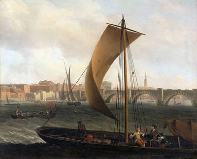 River View Painting - View On The Thames With Westminster Bridge by Litz Collection