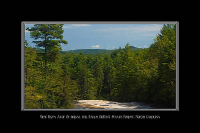 Photograph - View On Top Of Bridal Veil Falls North Carolina by Charles Beeler