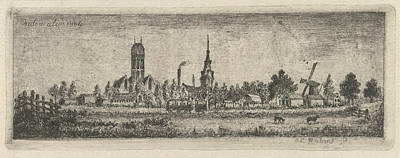 View Oudewater, The Netherlands, Eberhard Cornelis Rahms Art Print