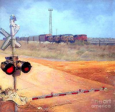 Photograph - Railroad Crossing by Janette Boyd Lee Boyd
