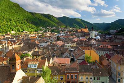 Romanian Photograph - View Over Brasov, Transylvania, Romania by Peter Adams