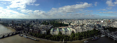 Victoria Embankment Photograph - View Over London by Steve K
