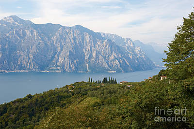 Photograph - View Over The Lake Garda In Italy by Nick  Biemans