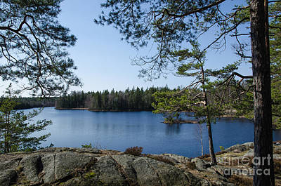 Photograph - View Point At A Calm Lake by Kennerth and Birgitta Kullman