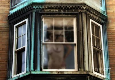 Nudes Digital Art - View Through A Window  by Steven Digman