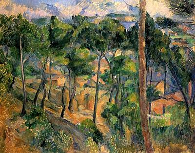 Estaque Painting - View Through The Pines by Paul Cezanne