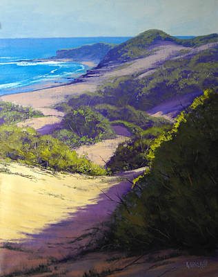 Sand Dunes Painting - View To Soldiers Beach by Graham Gercken