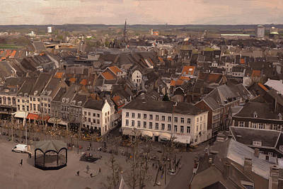 View To The East In Maastricht Art Print by Nop Briex