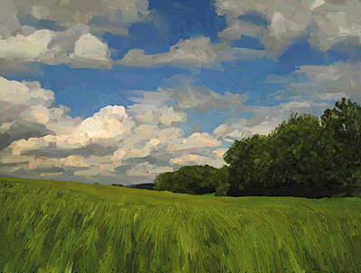 Briex Painting - View To The North In Spaubeek by Nop Briex