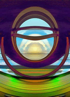 Digital Art - View To The Winter Sun by Wendy J St Christopher