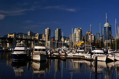Photograph - View To West From Granville Island by Robert Lozen