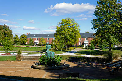 Photograph - View Toward Harvill Hall by Ed Gleichman