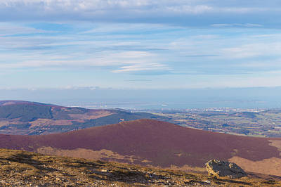 View Towards Bray And Dublin From Djouce Summit Art Print by Semmick Photo