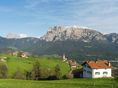 View Towards The Seiser Alm, Seen Art Print
