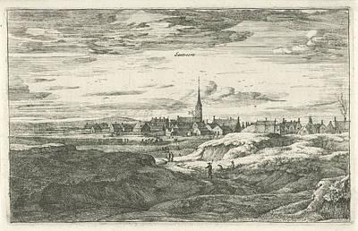 Zandvoort Drawing - View Zandvoort, The Netherlands, Roelant Roghman by Quint Lox
