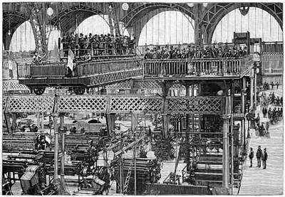 Viewing Platform, 1889 Paris Expo Art Print by Science Photo Library