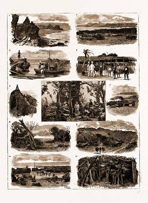 Banian Drawing - Views At The South Cape Of Formosa by Litz Collection
