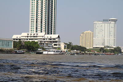 Taxi Photograph - Views From A River Boat Taxi In Bangkok Thailand - 01132 by DC Photographer