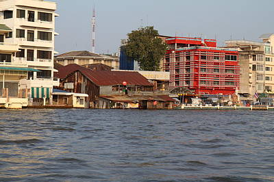 Views From A River Boat Taxi In Bangkok Thailand - 011328 Art Print by DC Photographer