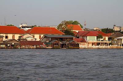Views From A River Boat Taxi In Bangkok Thailand - 011329 Art Print
