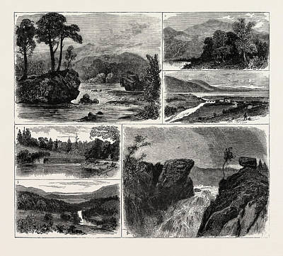 Vale Drawing - Views In The Vale Of Rannoch Perthshire Scotland 1 by Scottish School