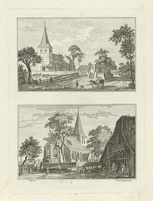 German Village Drawing - Views Of Hanselaer And Appeldorn 1746, Paulus Van Liender by Paulus Van Liender