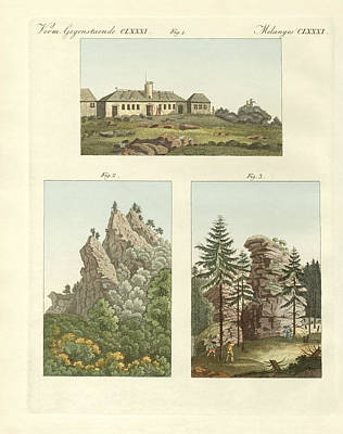 Mountain View Drawing - Views Of Harz by Splendid Art Prints