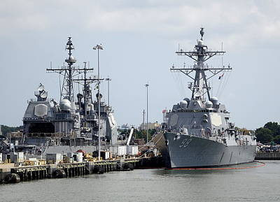 Urban Abstracts - Views Of Norfolk Naval Station 4 by Rick Rosenshein