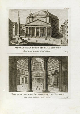 Views Of The Pantheon Art Print by British Library