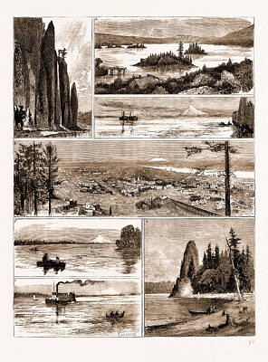 River View Drawing - Views On The Northern Pacific Railway, U.s.a., U.s., Us by Litz Collection