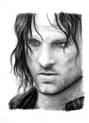 Lord Drawing - Viggo Mortensen by Rosalinda Markle