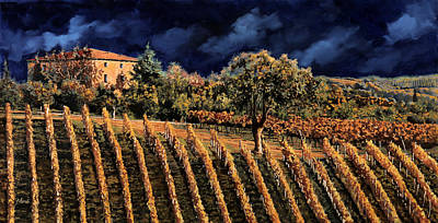 Grape Wall Art - Painting - Vigne Orizzontali by Guido Borelli