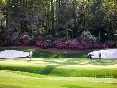 Masters Golf Photograph - Vijay At Augusta by David Bearden