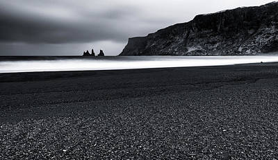 Wind Photograph - Vik And The Black Sand by Julien Oncete