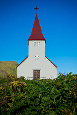 Photograph - Vik Church by Anthony Doudt