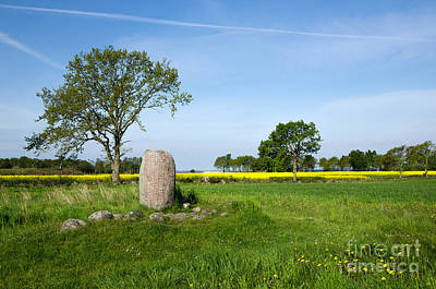 Photograph - Viking Age Runic Stone by Kennerth and Birgitta Kullman