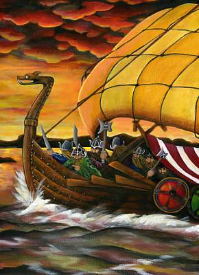 Viking Assault Art Print by Diana Lehr
