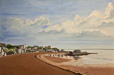 Painting - Viking Bay Broadstairs Kent Uk by Martin Howard