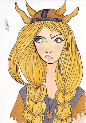 Drawing - Viking Girl by Amanda Mitchell