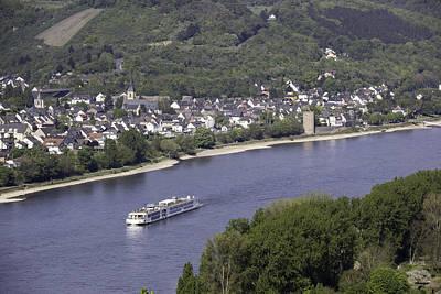 Teresa A Mucha Photograph - Viking Ingvi Cruising The Rhine In Braubach by Teresa Mucha