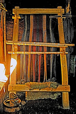 Looms Digital Art - Viking Loom Replica At L'anse Aux Meadows-nl by Ruth Hager