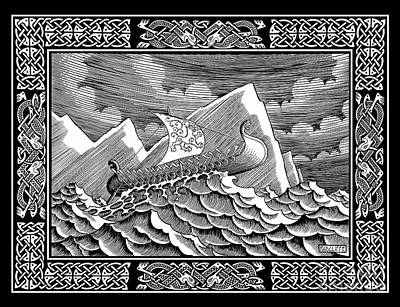 Viking Ship Original by Guy Radcliffe