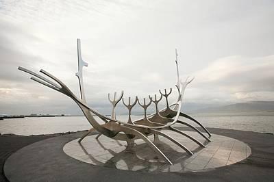 Viking Ship Sculpture Art Print by Ashley Cooper