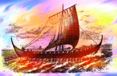 Viking Ship Art Print