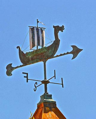 Photograph - Viking Ship Weather Vane by Bill Owen